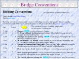 Bridge conventions